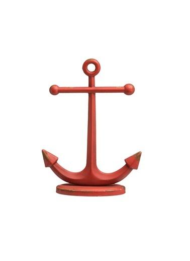 Warm Design Çapa Figürlü Yüzük Tutucusu Kırmızı